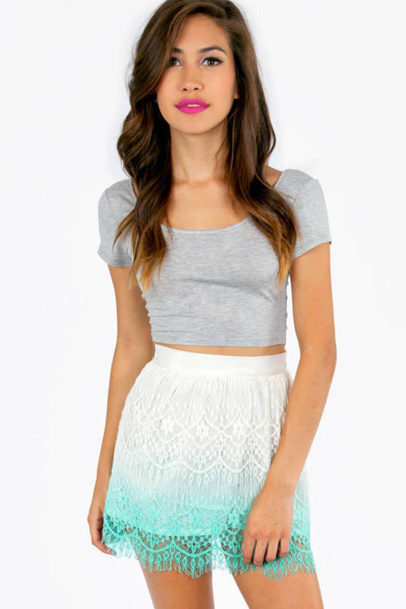 Ombre Lace Crochet Skirt