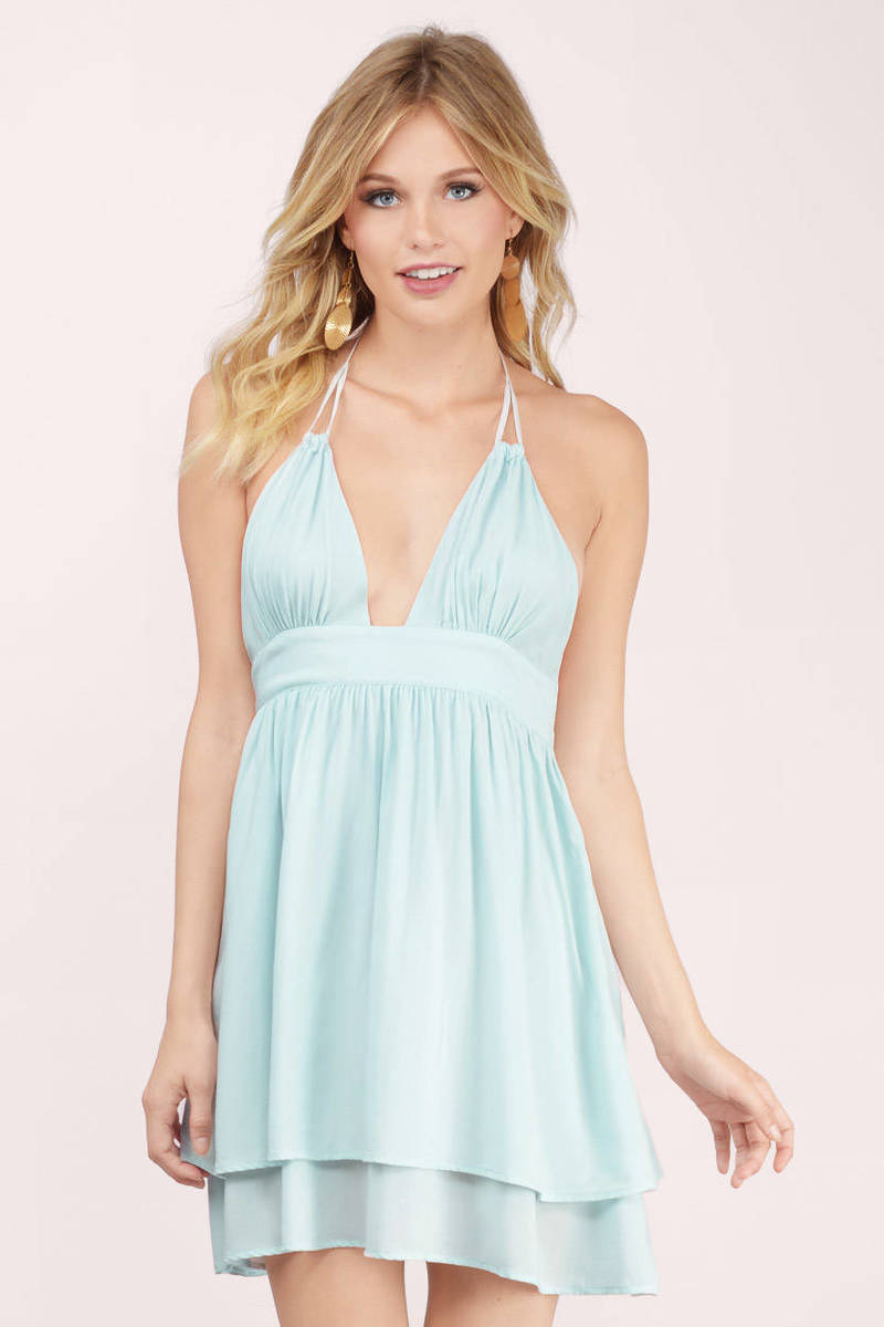 Sure Thing Mint Skater Dress