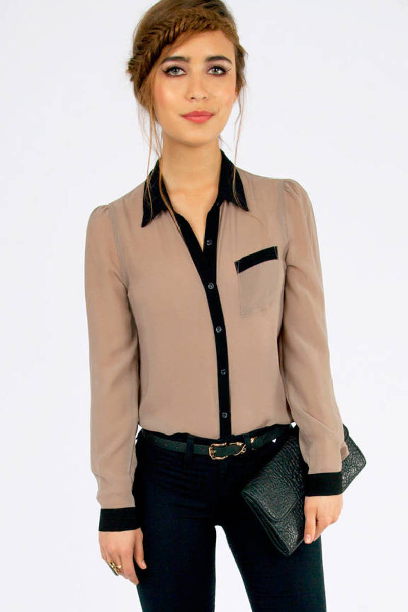 Cassie Button Up Pocket Blouse