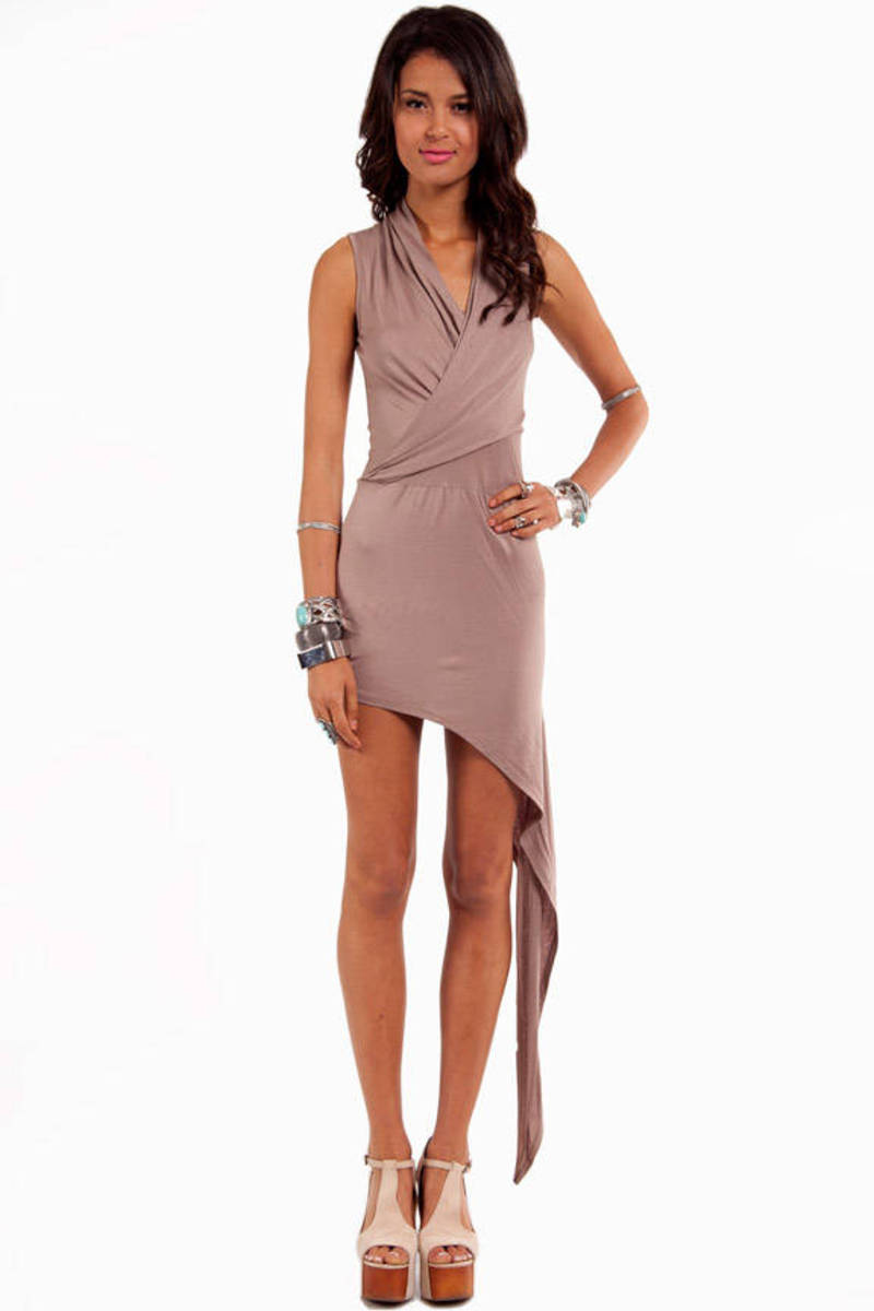 Jessa Asymmetric Wrap Dress