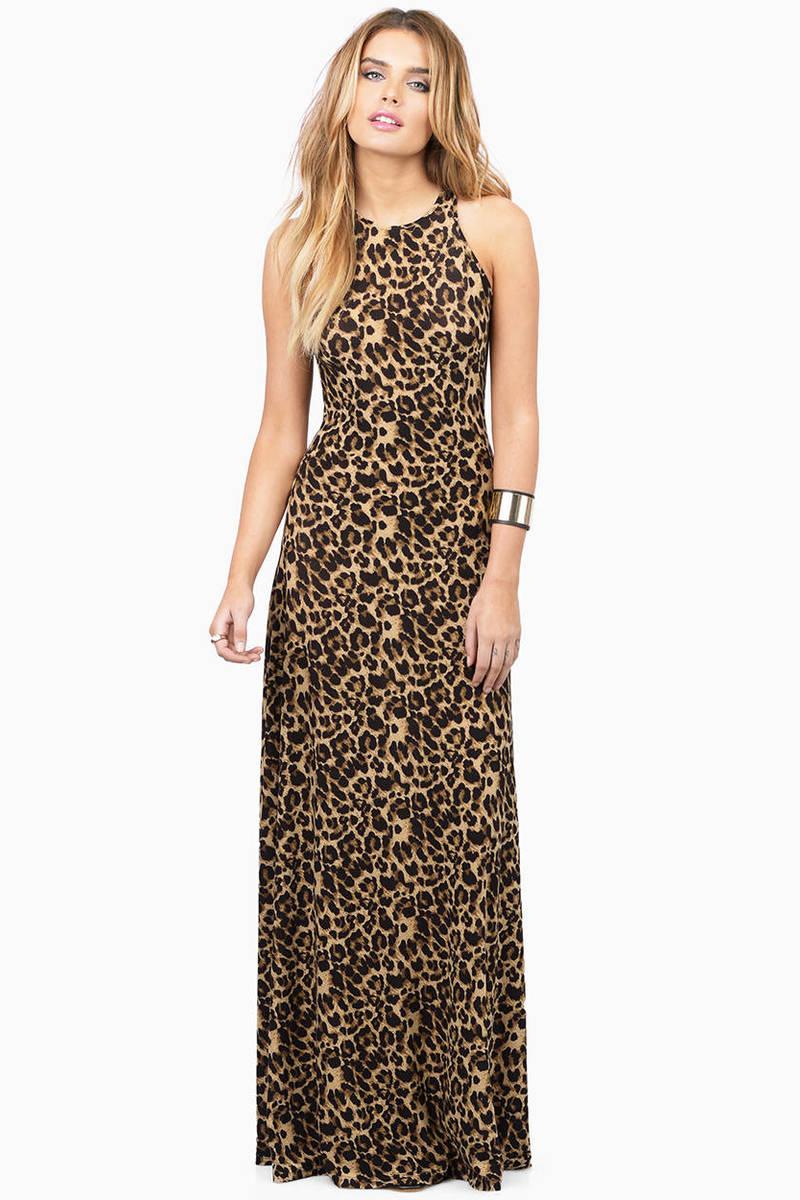 I'm Not Giving In Yet Mocha Multi Cheetah Print Maxi Dress