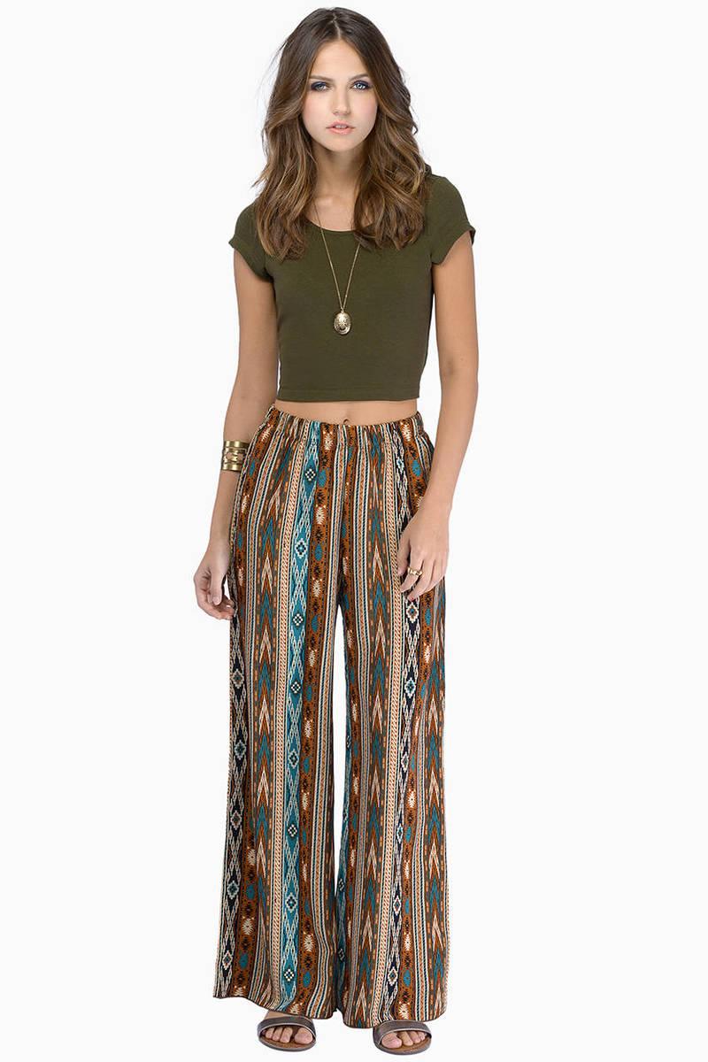 3a2940225a2ce Lovely Brown Pants - Flowy Boho Pants - Brown Festival Pants - $14 ...