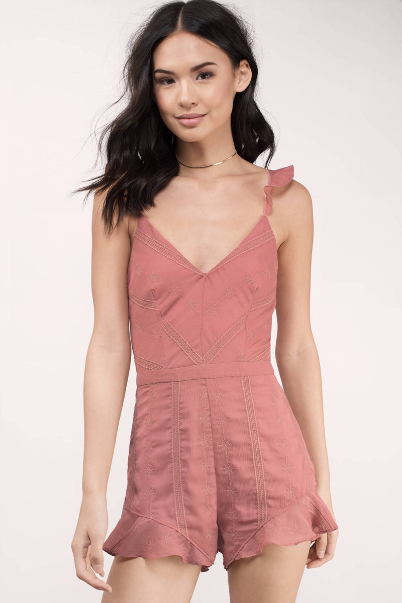 The Jetset Diaries The Jetset Diaries Getaway Moss Coral Striped Romper