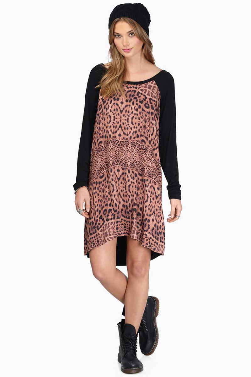 somedays lovin Somedays Lovin Amur Multi Leopard Print Shift Dress