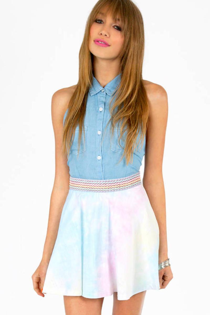 Blast From The Pastel Skirt