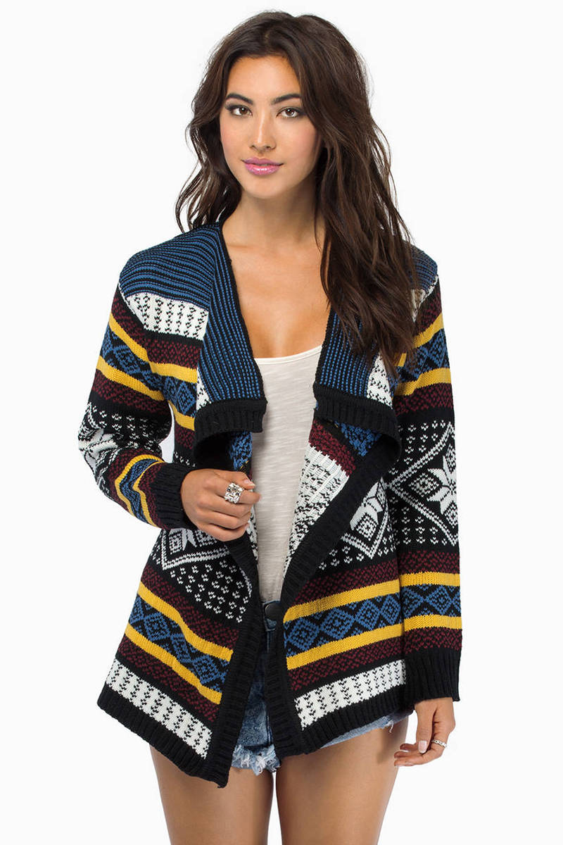 Cardigan Multi Knitted Sweater