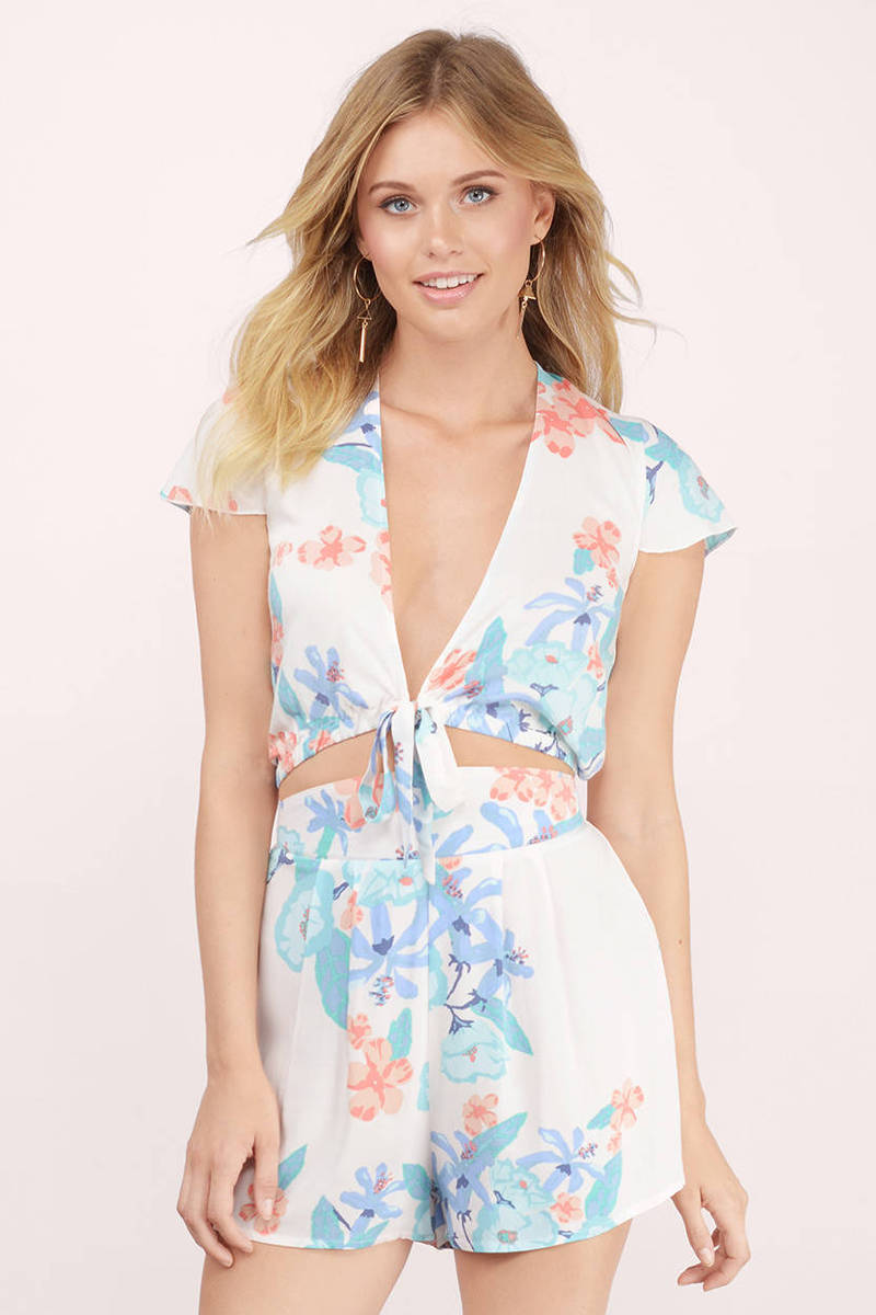 somedays lovin Somedays Lovin Day Dreamer Multi Printed Crepe Crop Top