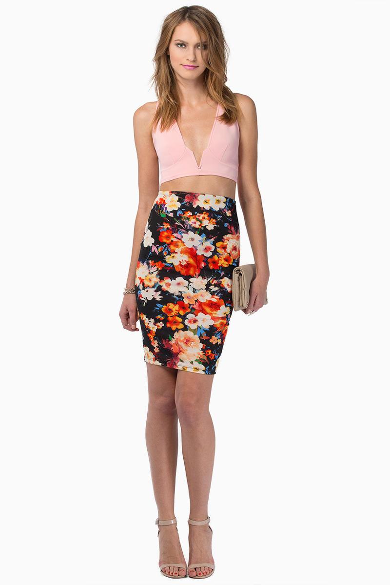 Heather Floral Skirt