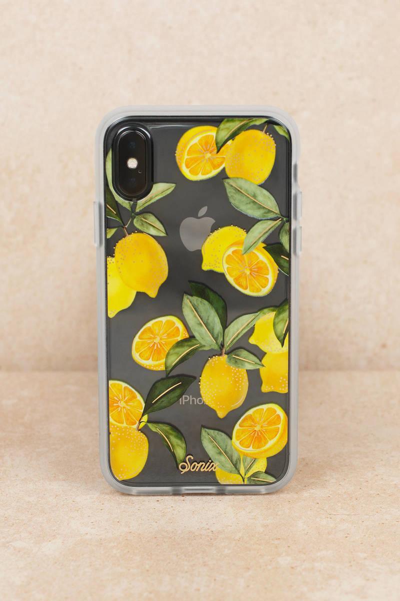 lemon iphone xs case