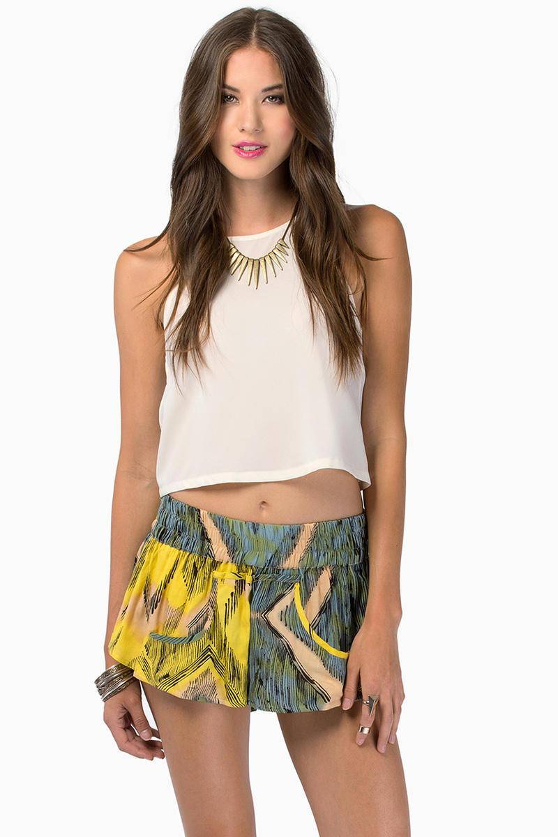 somedays lovin Modern Love Flippy Dyed Shorts