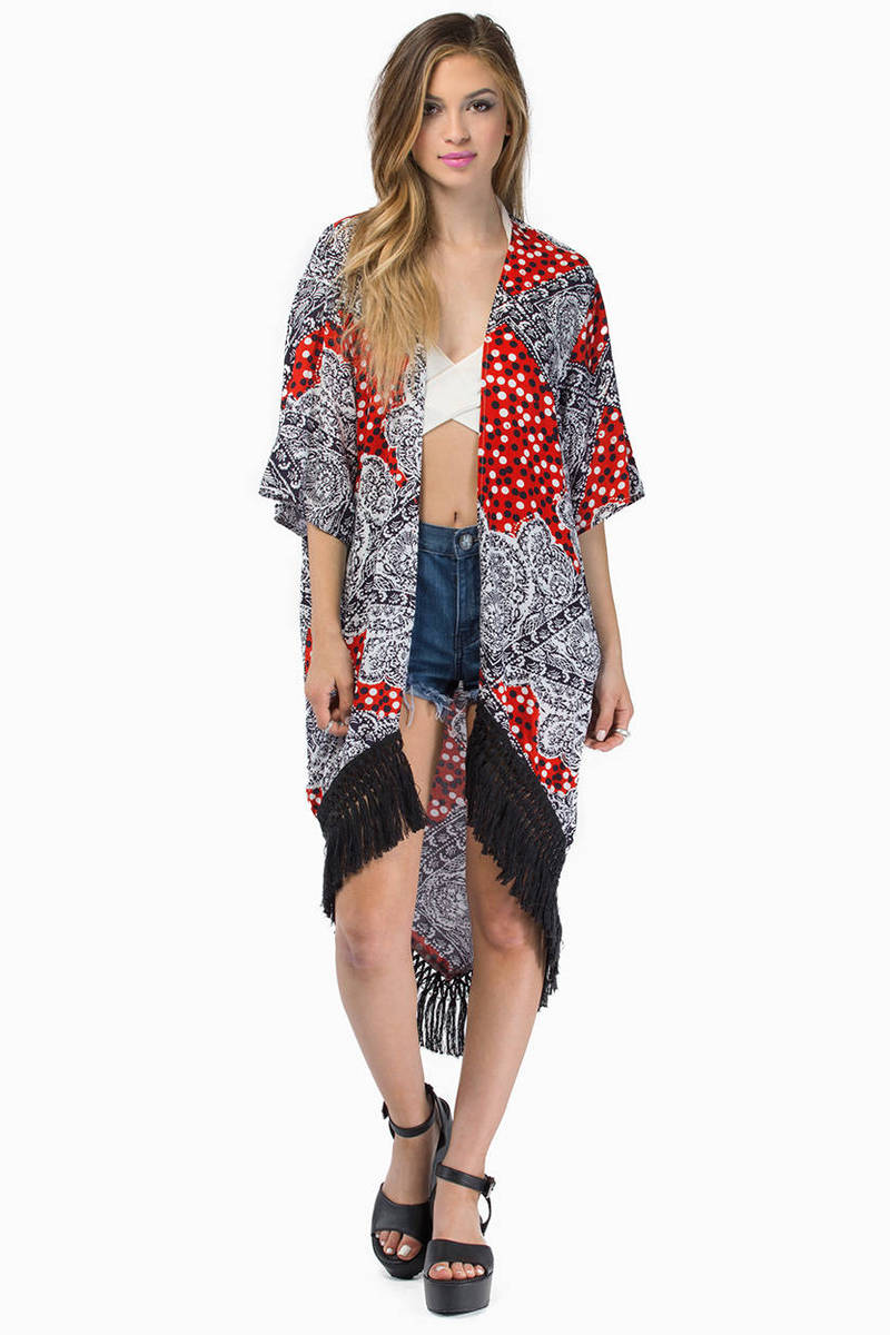 Cheap Multi Cardigan - Fringe Cardigan - Multi Cardigan - NZ$ 79 ...