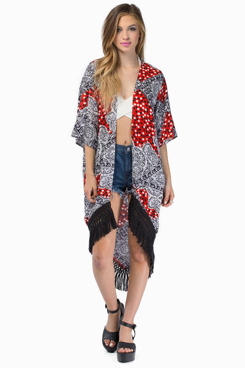 MINKPINK Minkpink Spot Surprise Multi Kimono