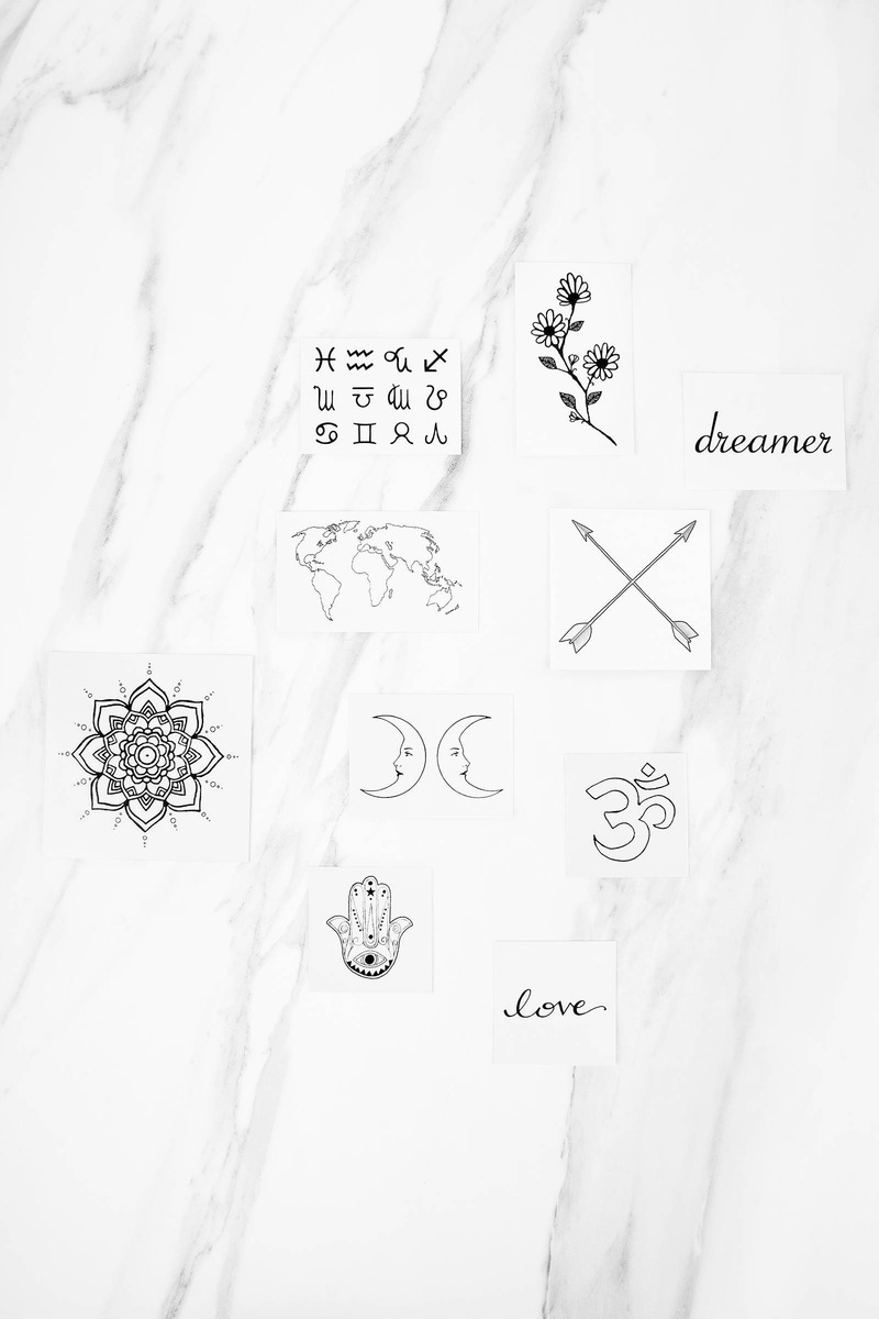 INKED by dani Inked By Dani The Dreamer Multi  Temporary Tattoos