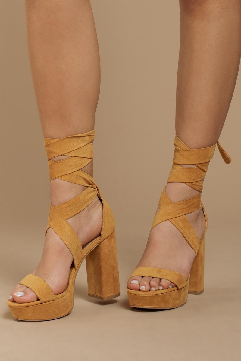 Tobi Alice Suede Ankle Tie Heels | Tobi IE