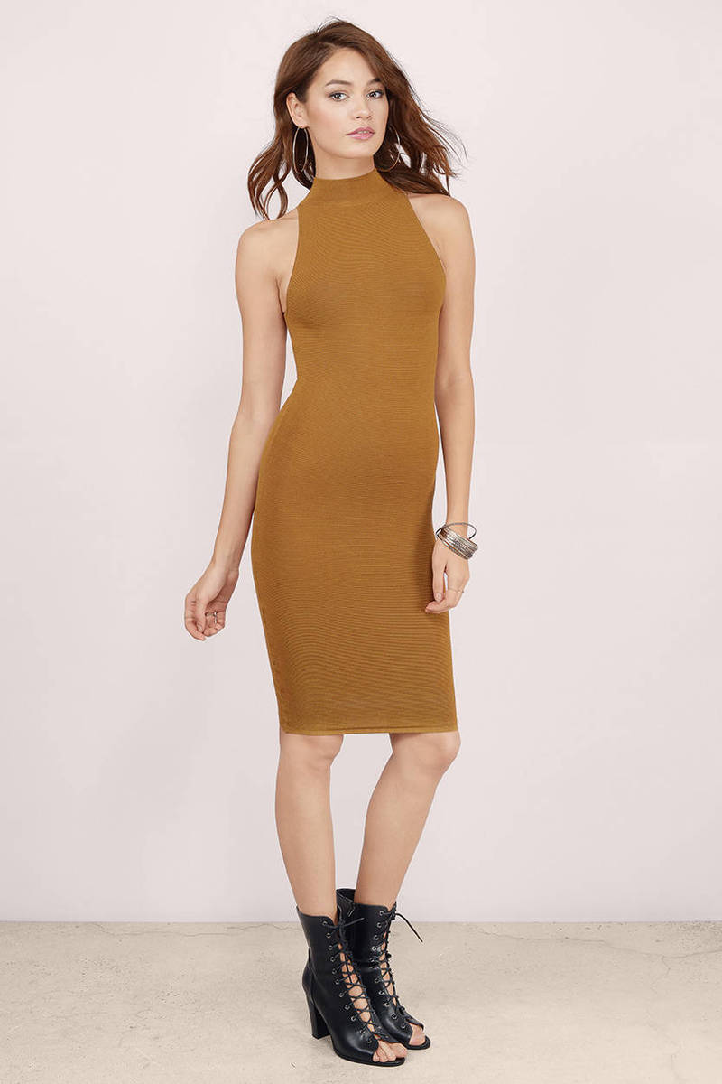Sundown Mustard Midi Dress