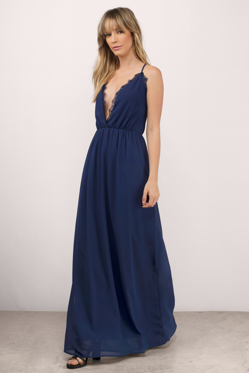 Abegayle Navy Maxi Dress