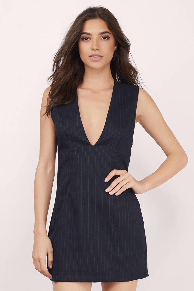 All Business Navy Shift Dress