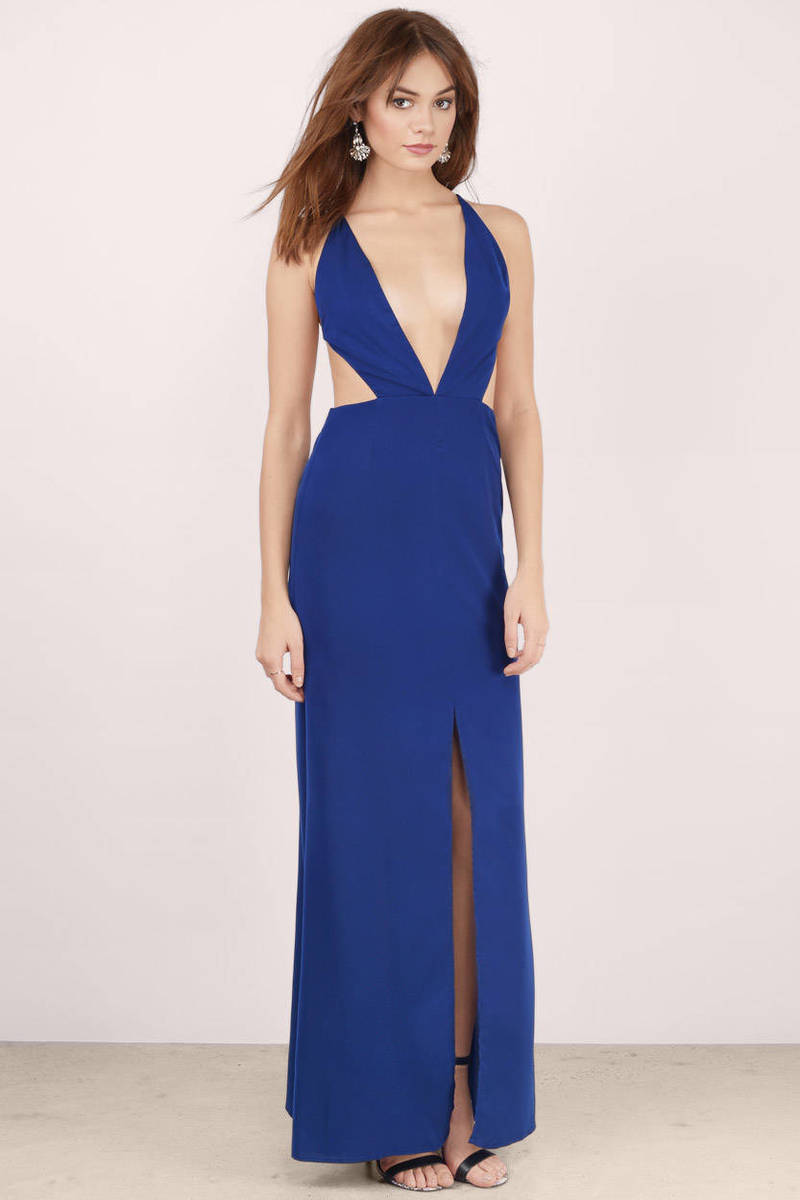 Sexy Navy Dress - Backless Dress - Royal Blue Gown - Maxi Dress ... 92edbf70a