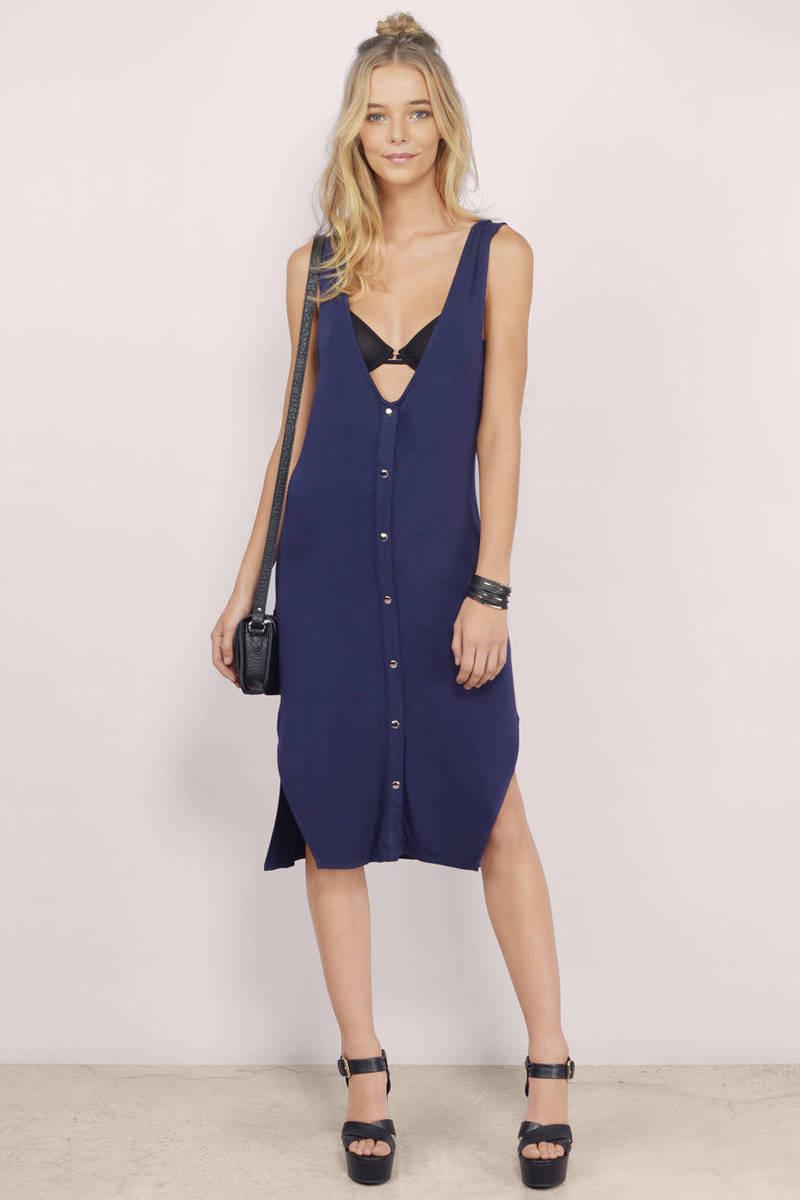 Camari Navy Midi Dress