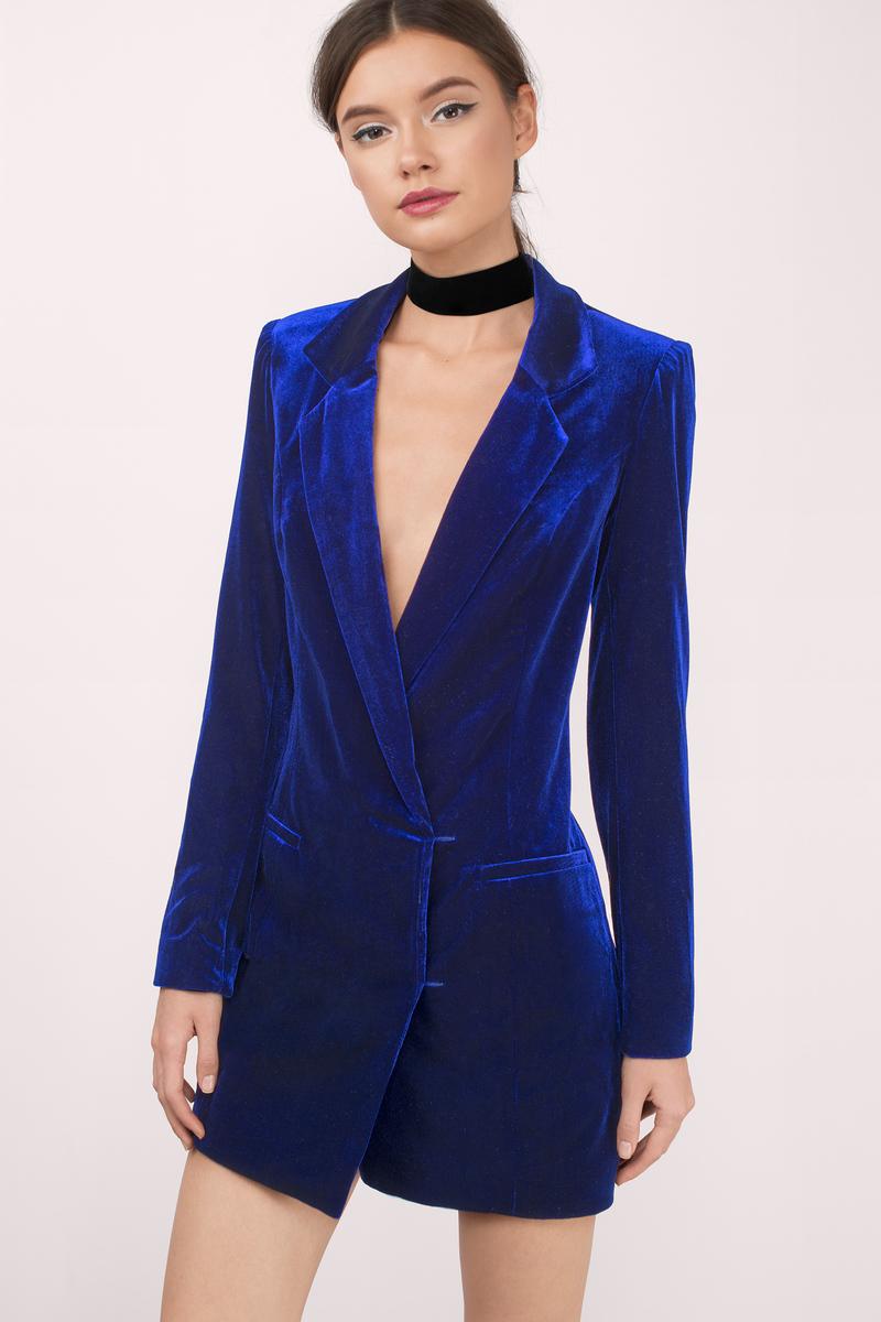 ce12ee3972c97 Sexy Navy Blue Shift Dress - Button Down Dress - Blue Blazer Dress ...