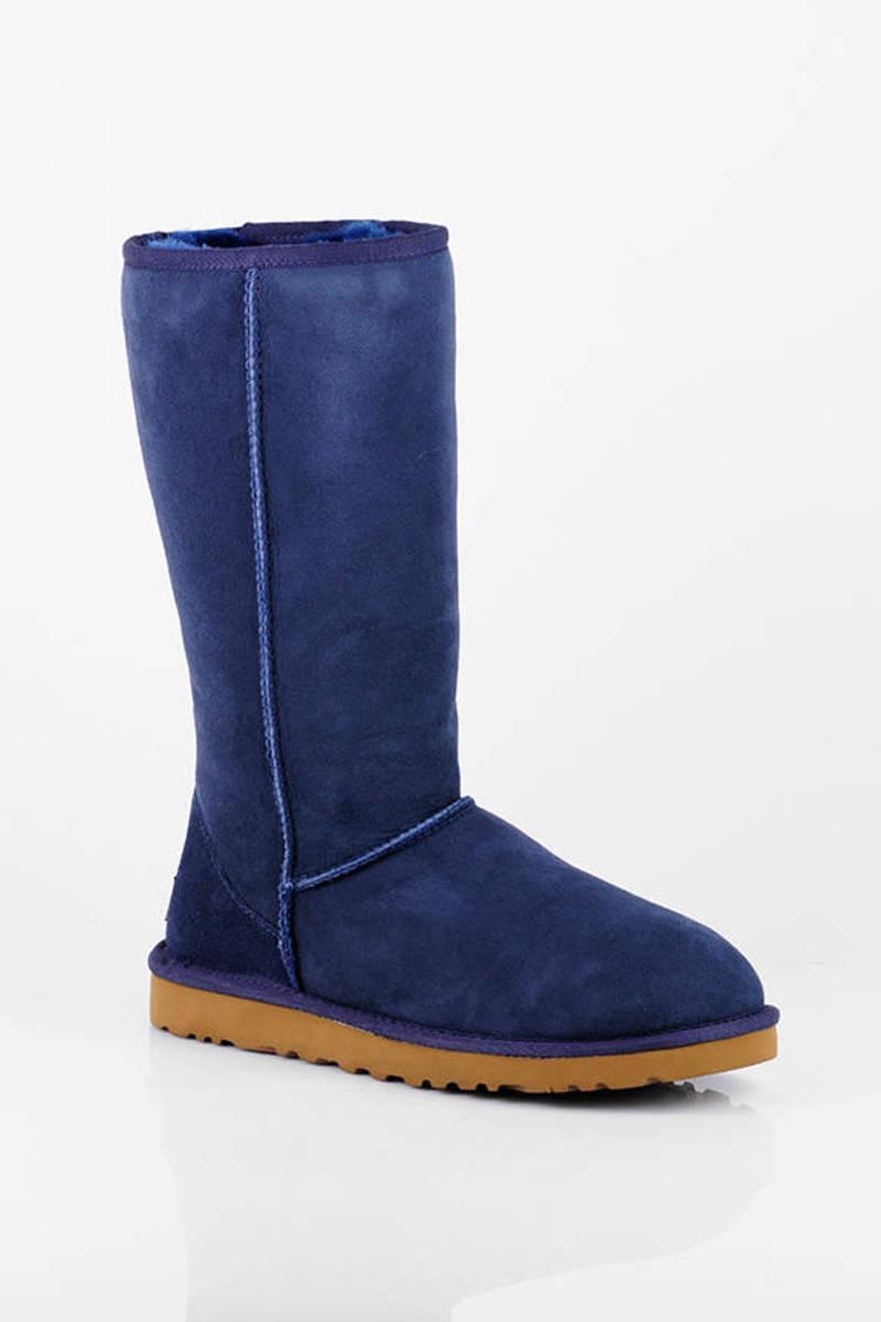 UGG Blue Classic Tall Sheepskin Boots