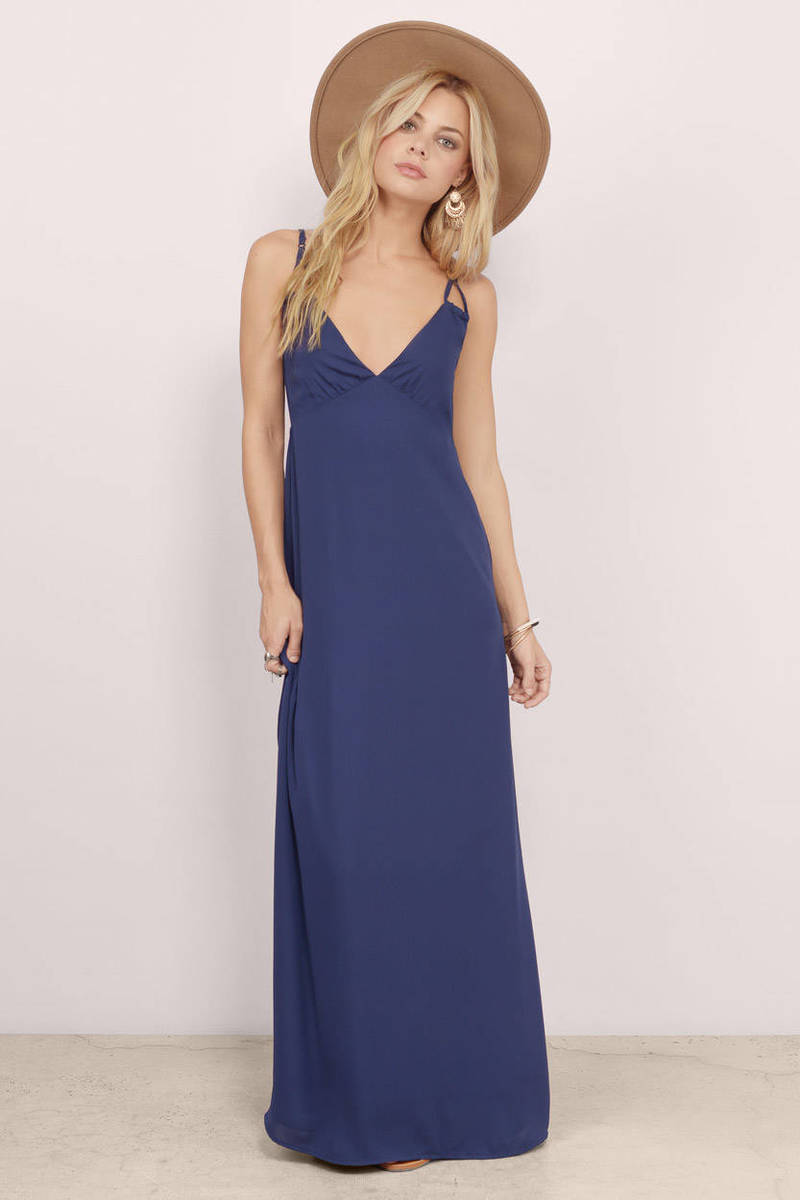Dancing In The Spring Navy Maxi Dress
