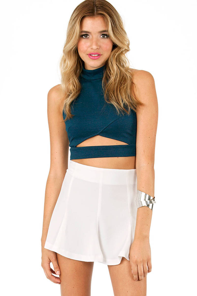 Drop A Line Crop Top