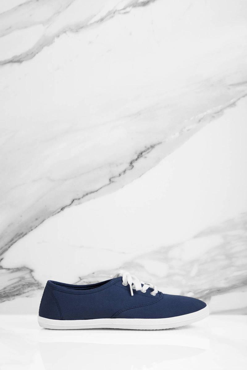 Ellie Navy Canvas Sneakers