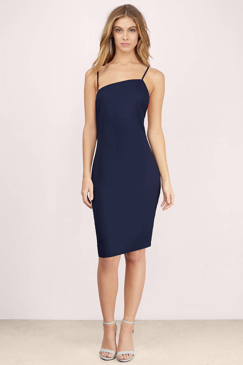 Honest Al Navy Midi Dress