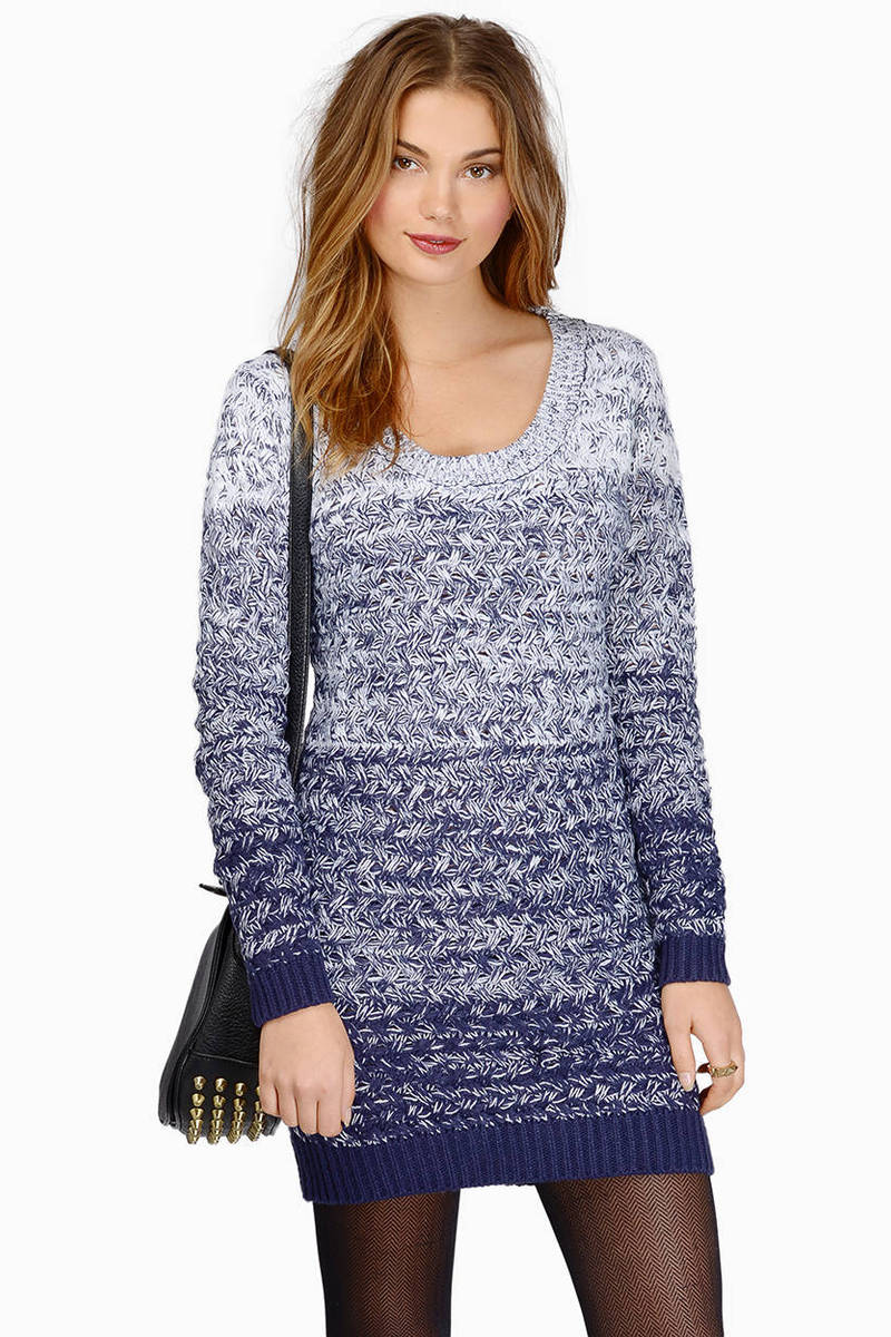 In The Blue Navy Ombre Sweater