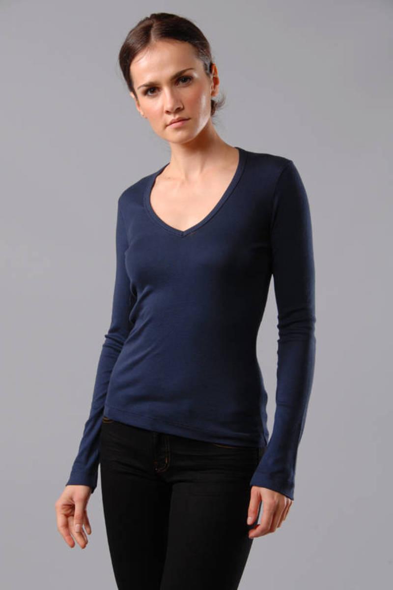 Splendid Womens V-Neck Long Sleeve Tunic