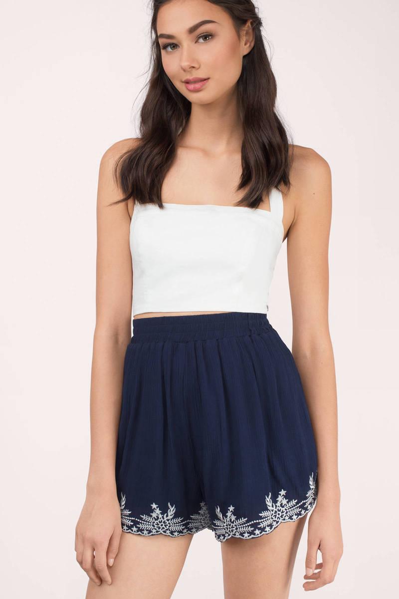 Sandy Navy Multi Floral Shorts