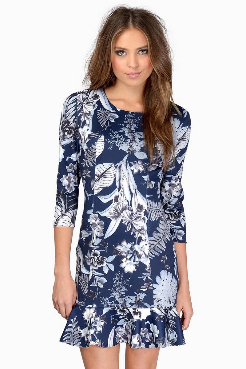 f899d94b1e41 Navy Multi Day Dress - Blue Dress - Shift Dress - Day Dress - € 15 ...