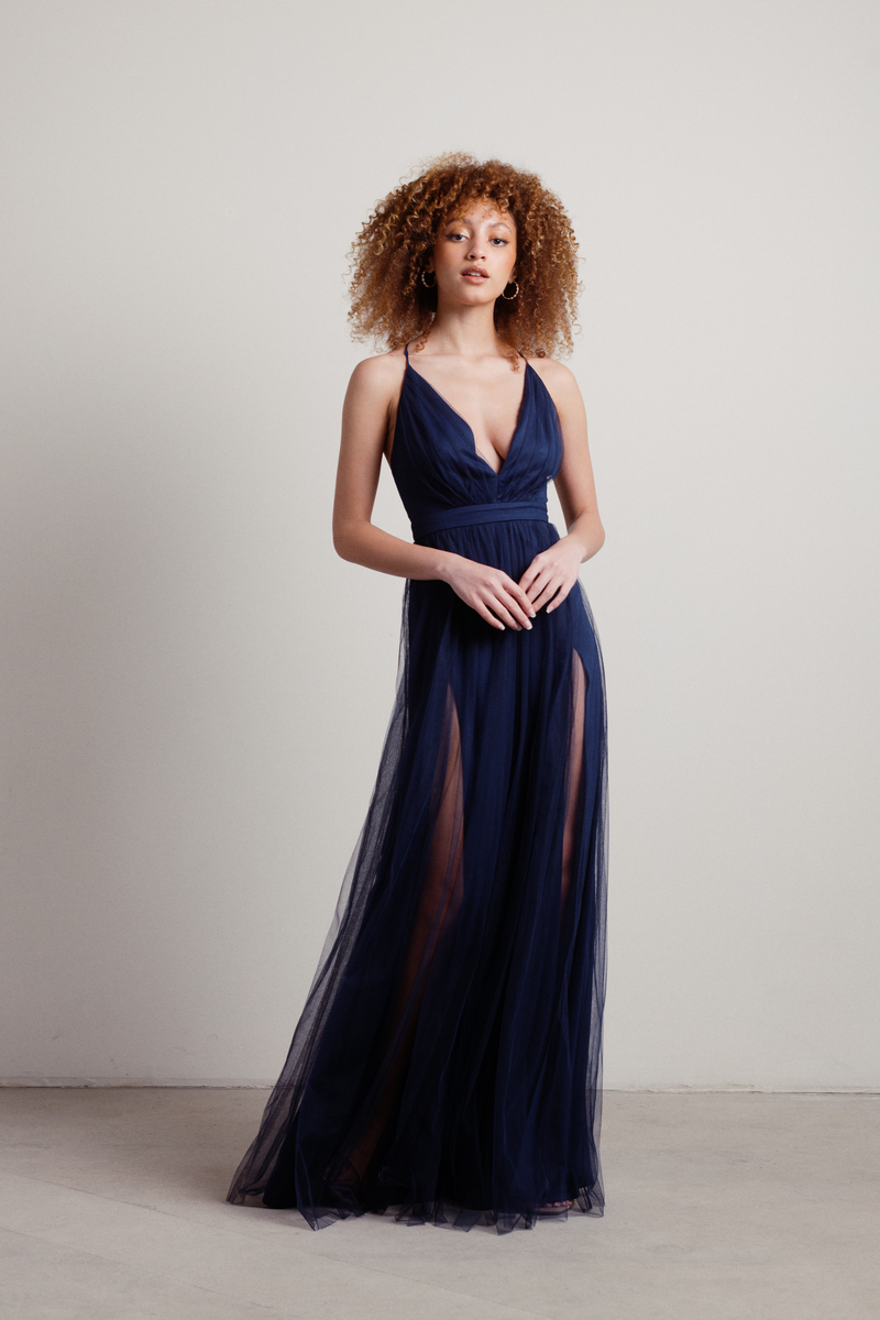 Night To Remember Maxi Dress in Navy