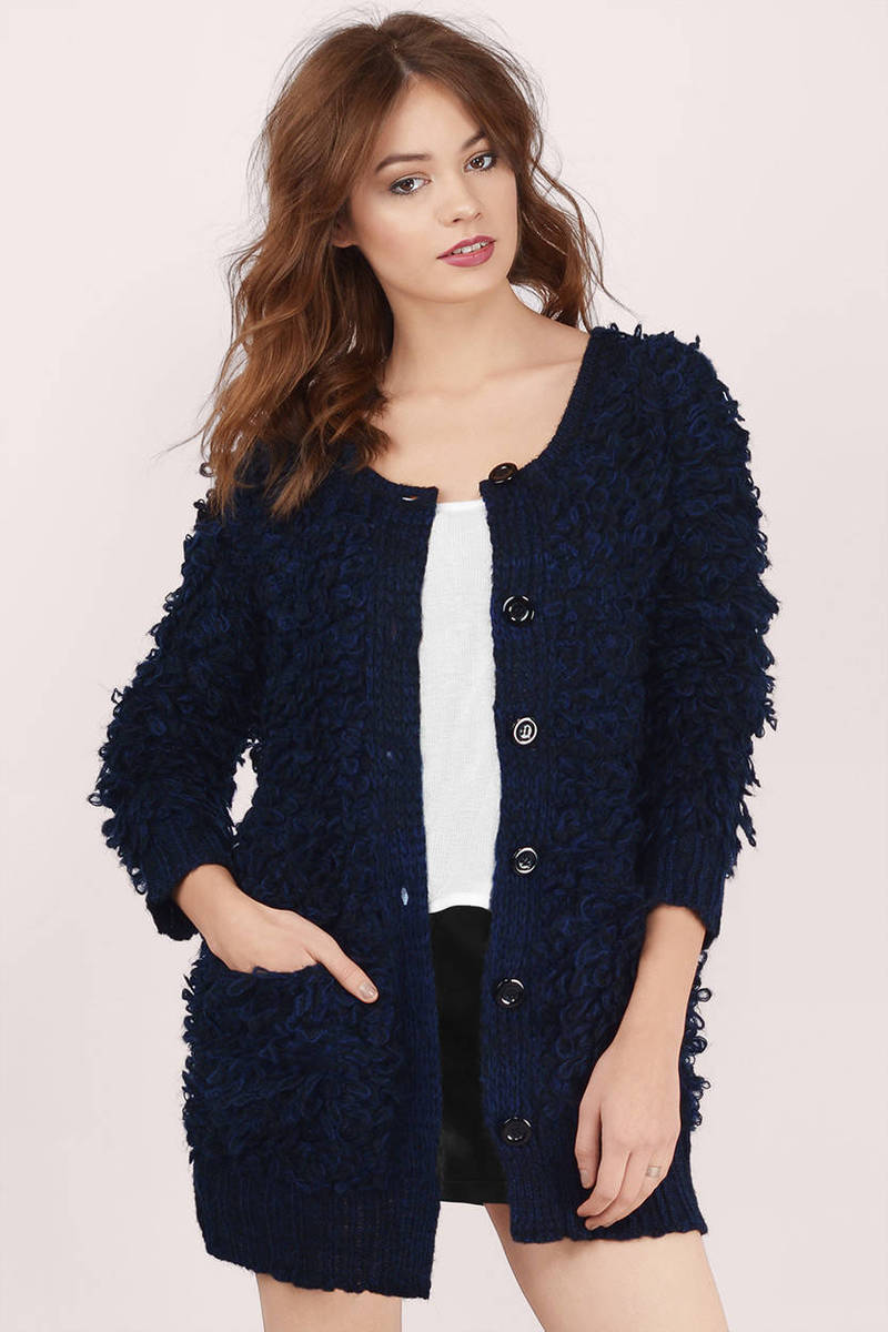 Ossie Navy Knitted Cardigan