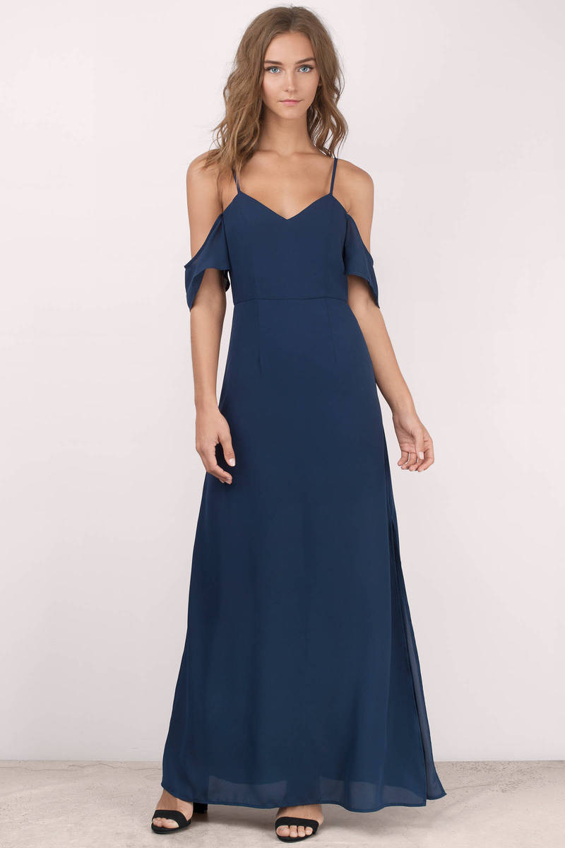 Romantic Navy Maxi Dress