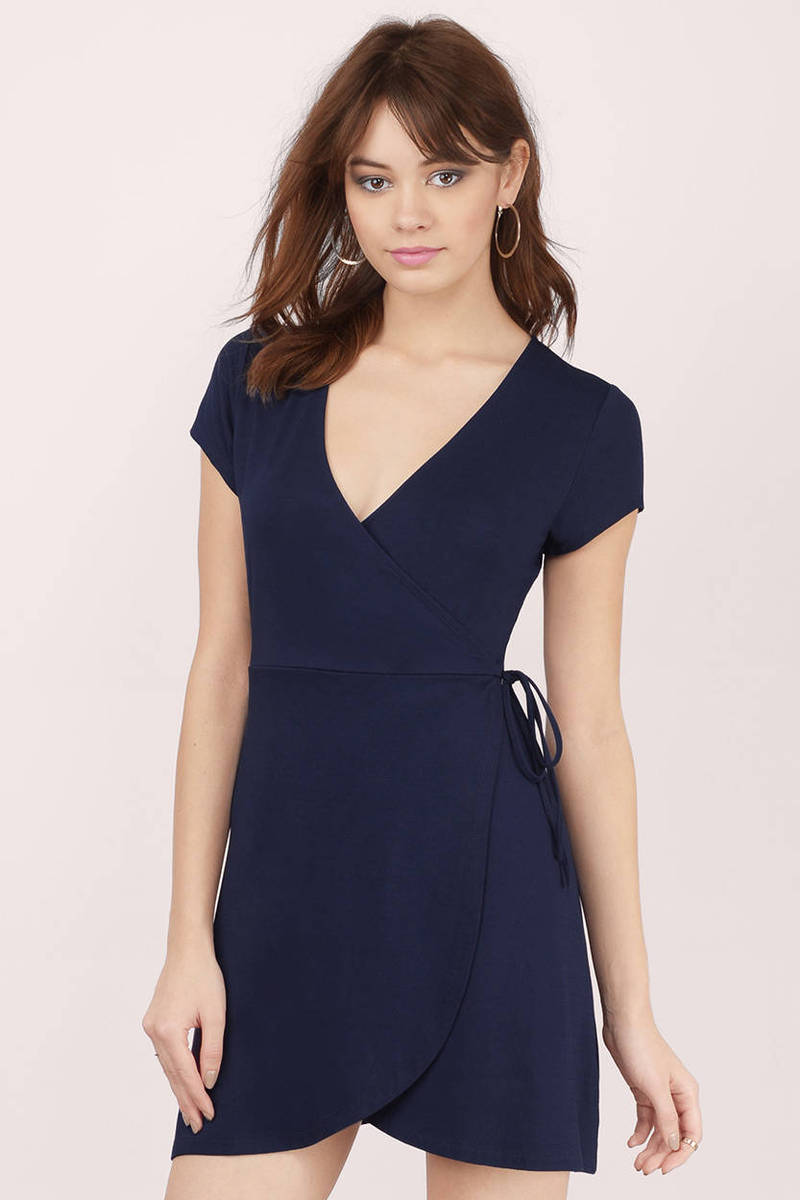 Spin Me Around Navy Wrap Dress