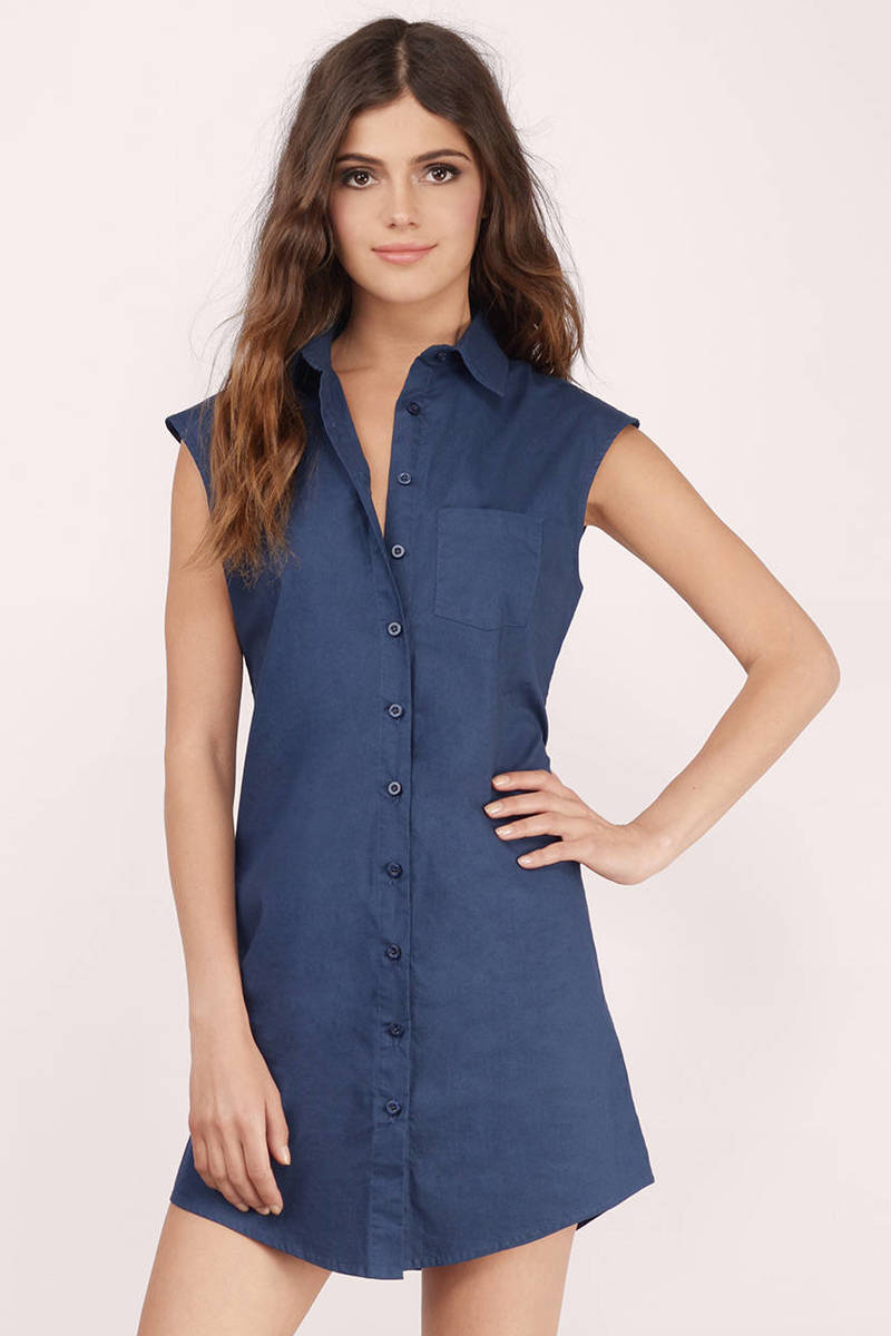 Teri Navy Day Dress