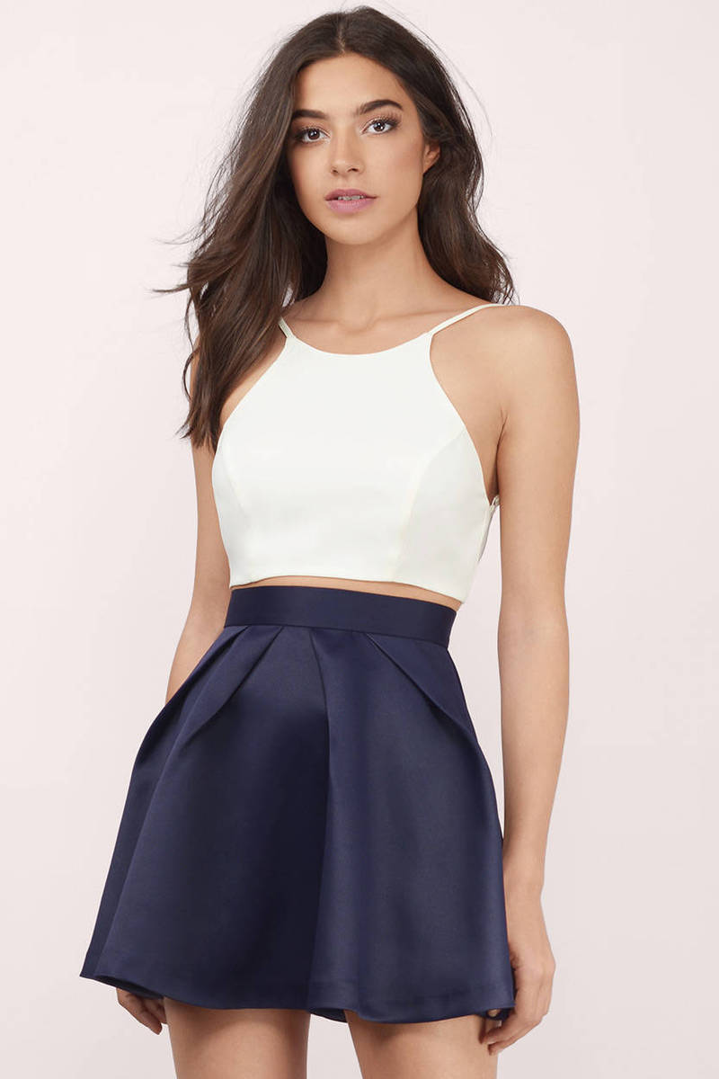 The Wish Navy Skater Skirt