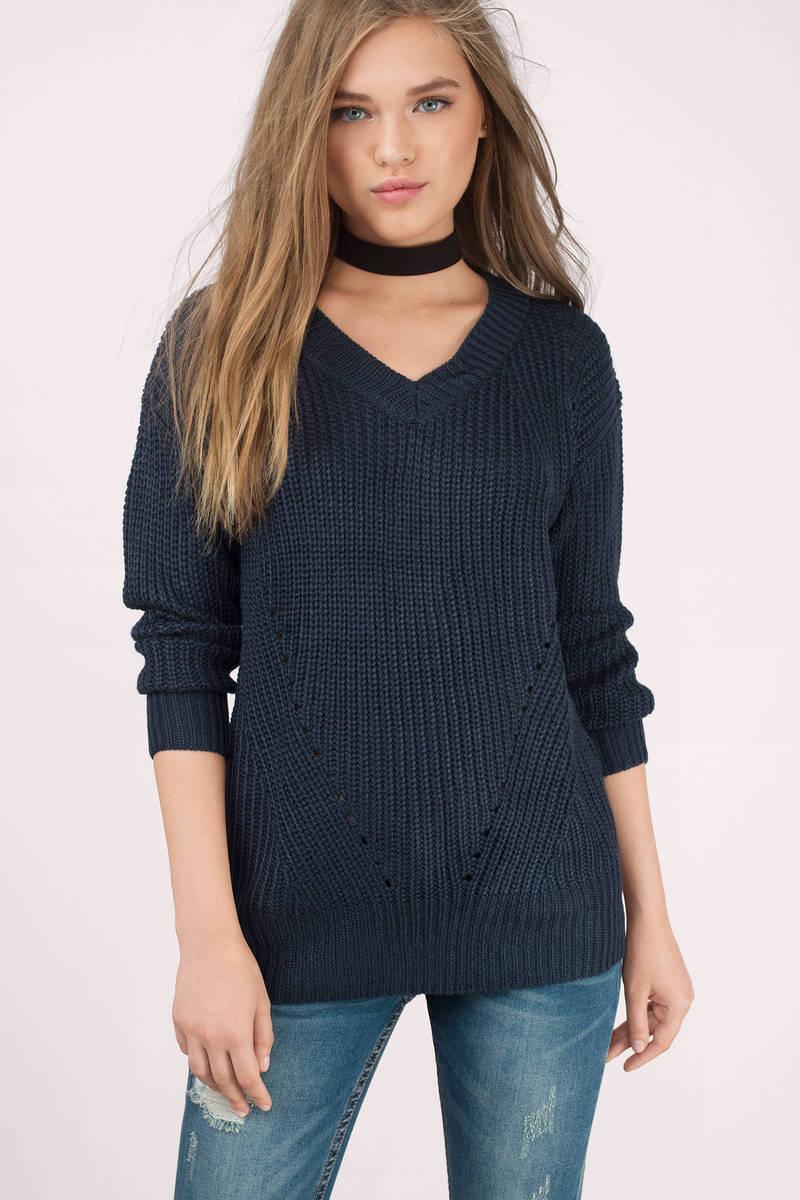 Wintery Nights Navy Sweater