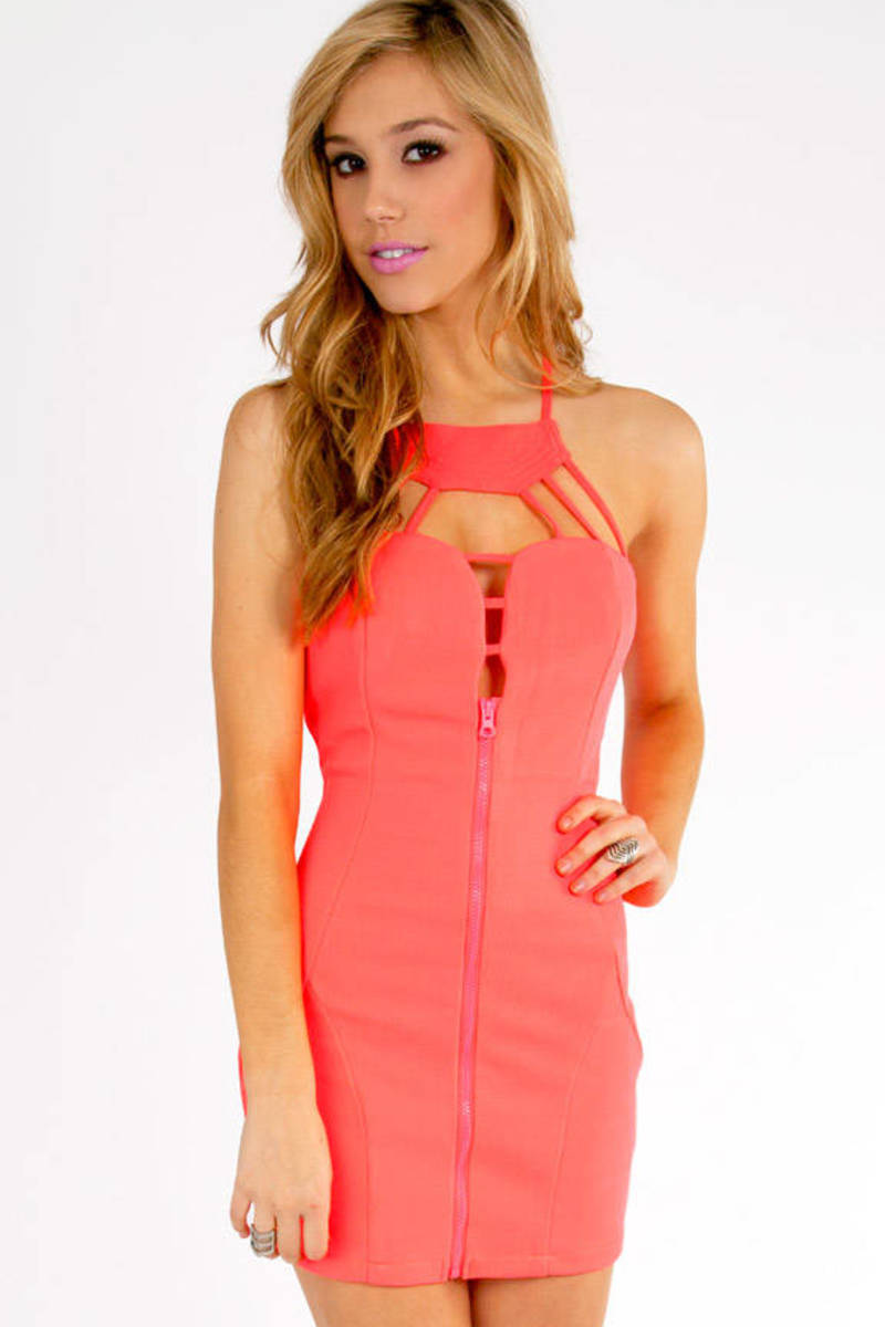 Neon Your Way Bodycon Dress