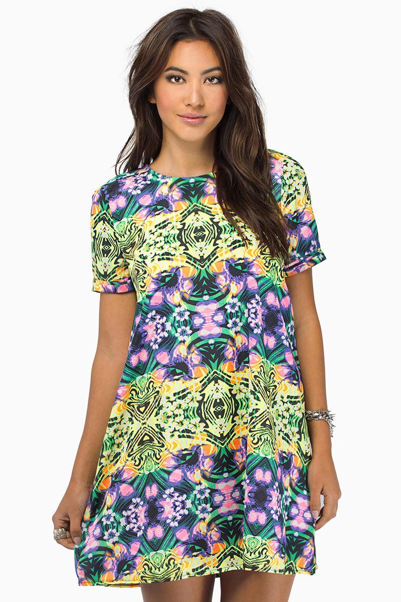 Reverse Garden Kaleido Shift Dress