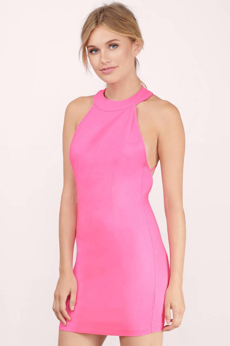 Concrete Jungle Neon Pink Bodycon Dress