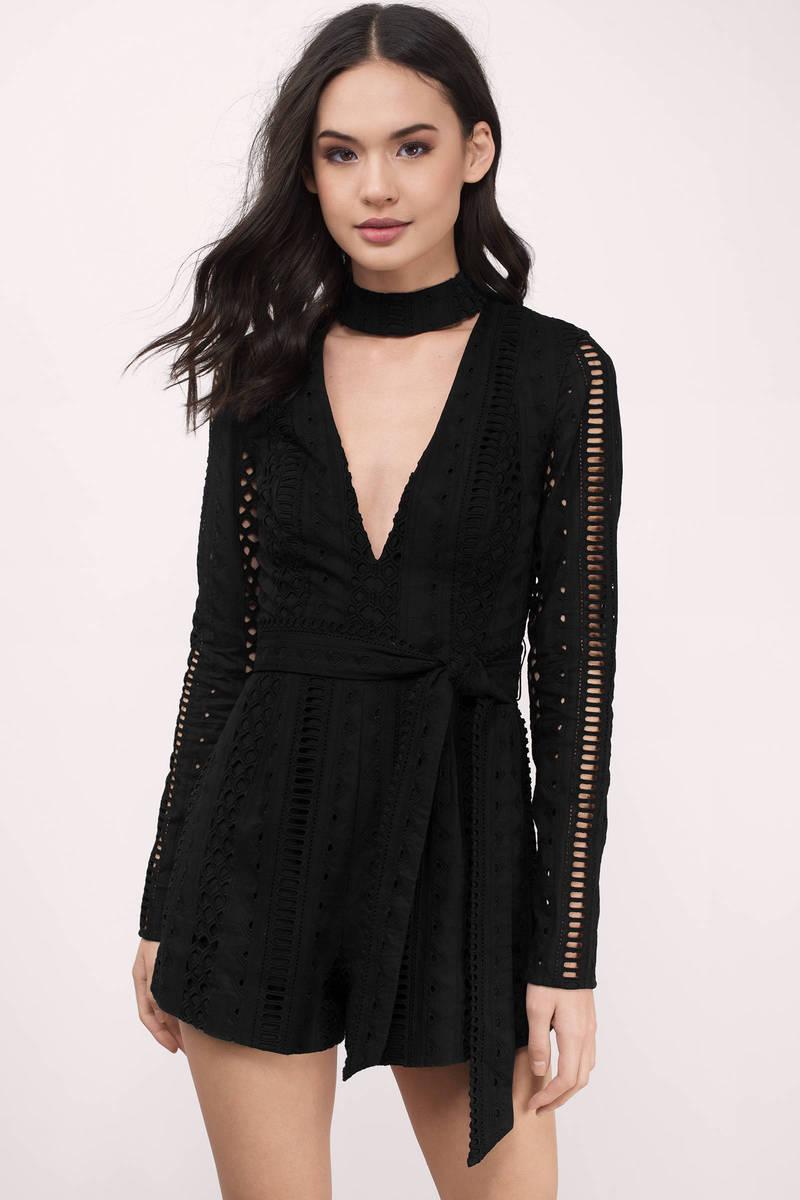Stylestalker Stylestalker Venice Noir Lace Romper