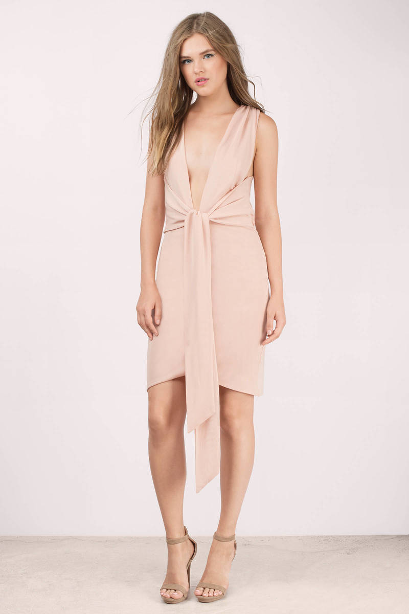 Bless'ed Are the Meek Bless'ed Are The Meek Coil Nude Wrap Dress