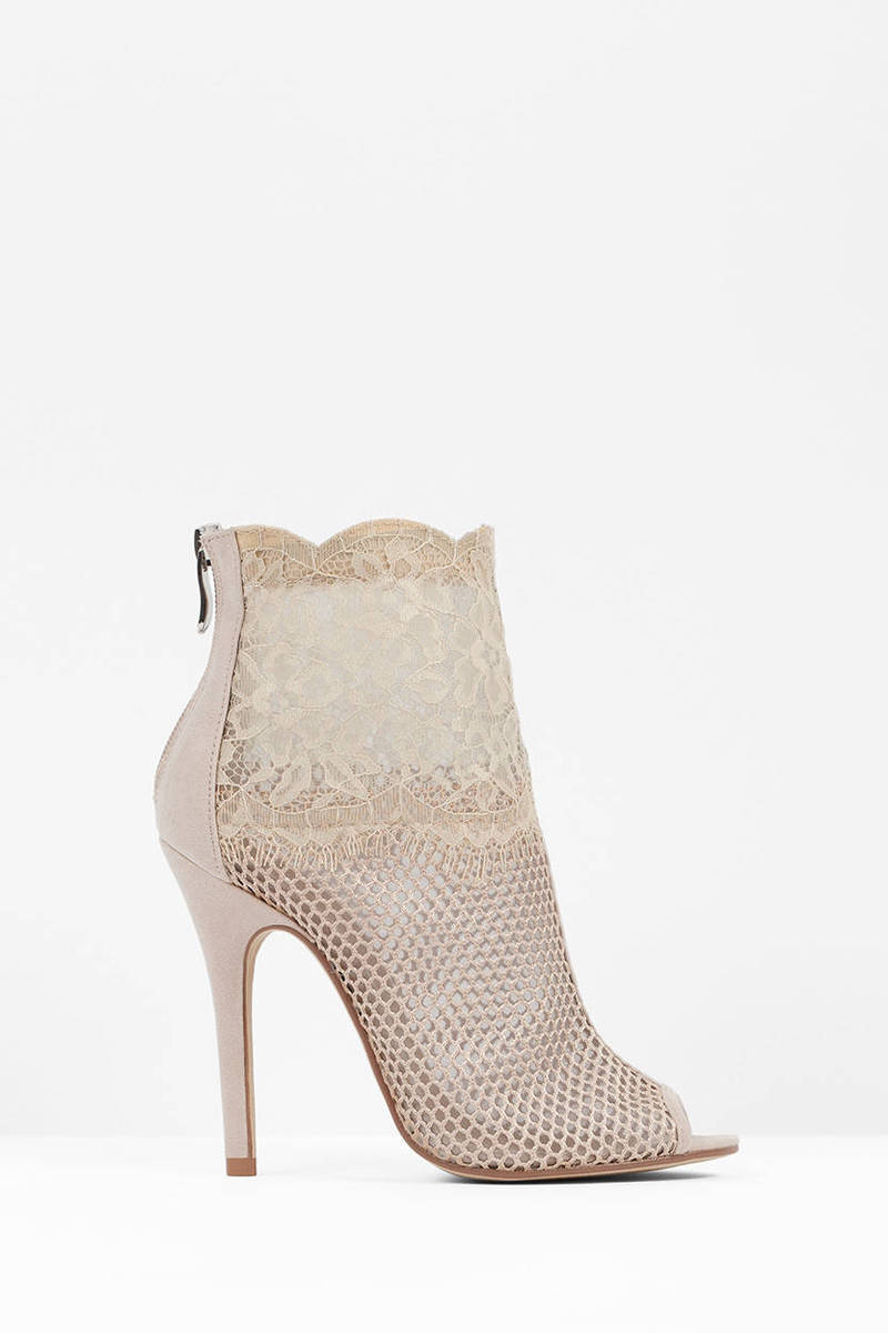 Chinese Laundry Jeopardy Mesh Peep Toe Booties