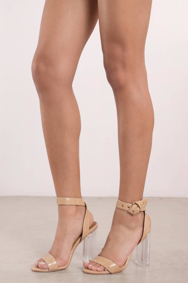 177b548a923a7 Krystal Lucite Ankle Strap Heels