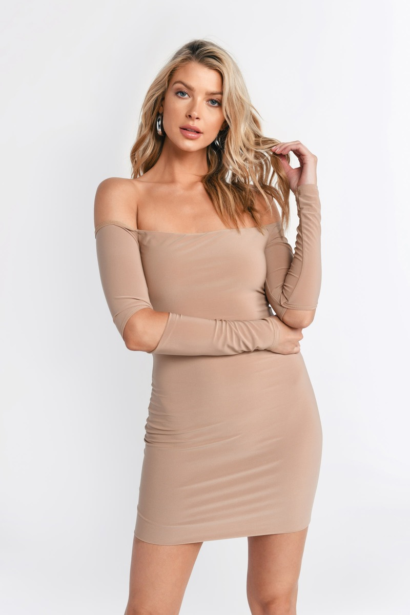 Kylie Nude Bodycon Dress