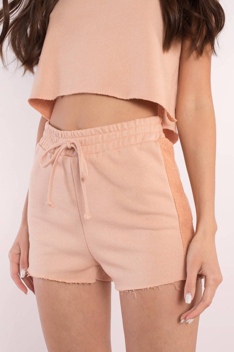 Olivia Nude Drawstring Shorts