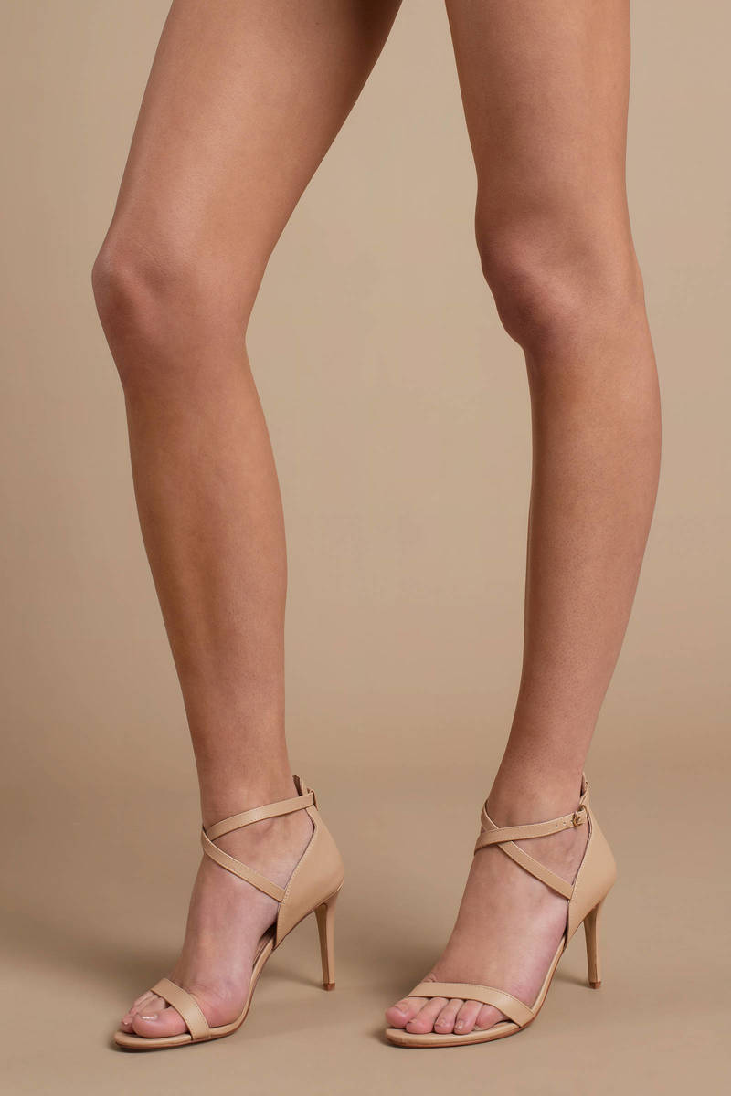 4e6e151b7cd Nude Chinese Laundry Heels - Strappy Designer Heels - Nude Brunch ...
